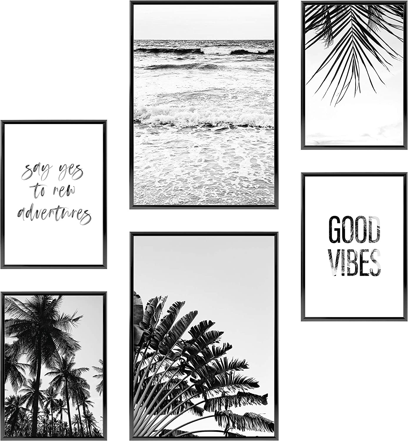 Heimlich Premium Set of Prints | UNFRAMED | Stylish Photo and Quote Prints Fashion Wall Decor | Glam Wall Decor for Living Room and Bedroom | 2 x 11x17 and 4 x 8.5x11 | » Good Vibes «