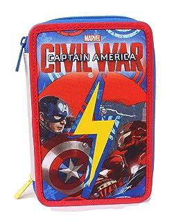 Astuccio Captain America Civil War - Poliestere, Multicolore Seven 3B8011603-591