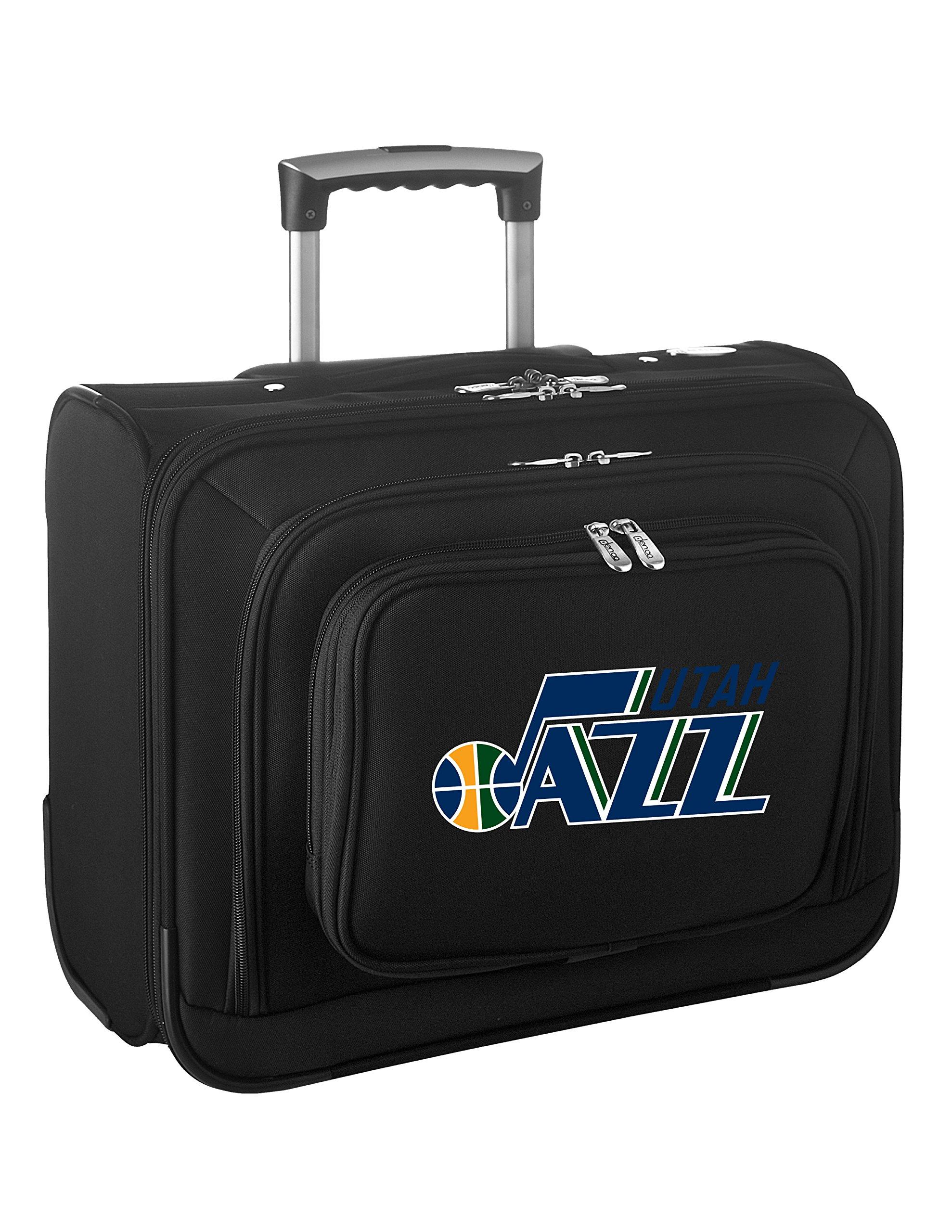 Denco NBA Utah Jazz Wheeled Laptop Overnighter