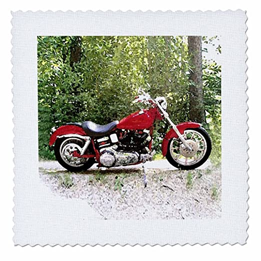 qs/_4488/_1 10x10 inch quilt square Quilt Square Picturing Harley-Davidson174; Motorcycle