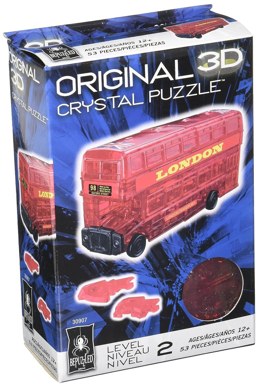BePuzzled Original 3D Crystal Puzzle, London Bus University Games 30907