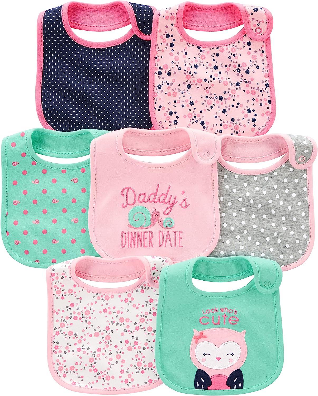 Simple Joys by Carter's Baby Girls' 7-Pack Teething Bibs