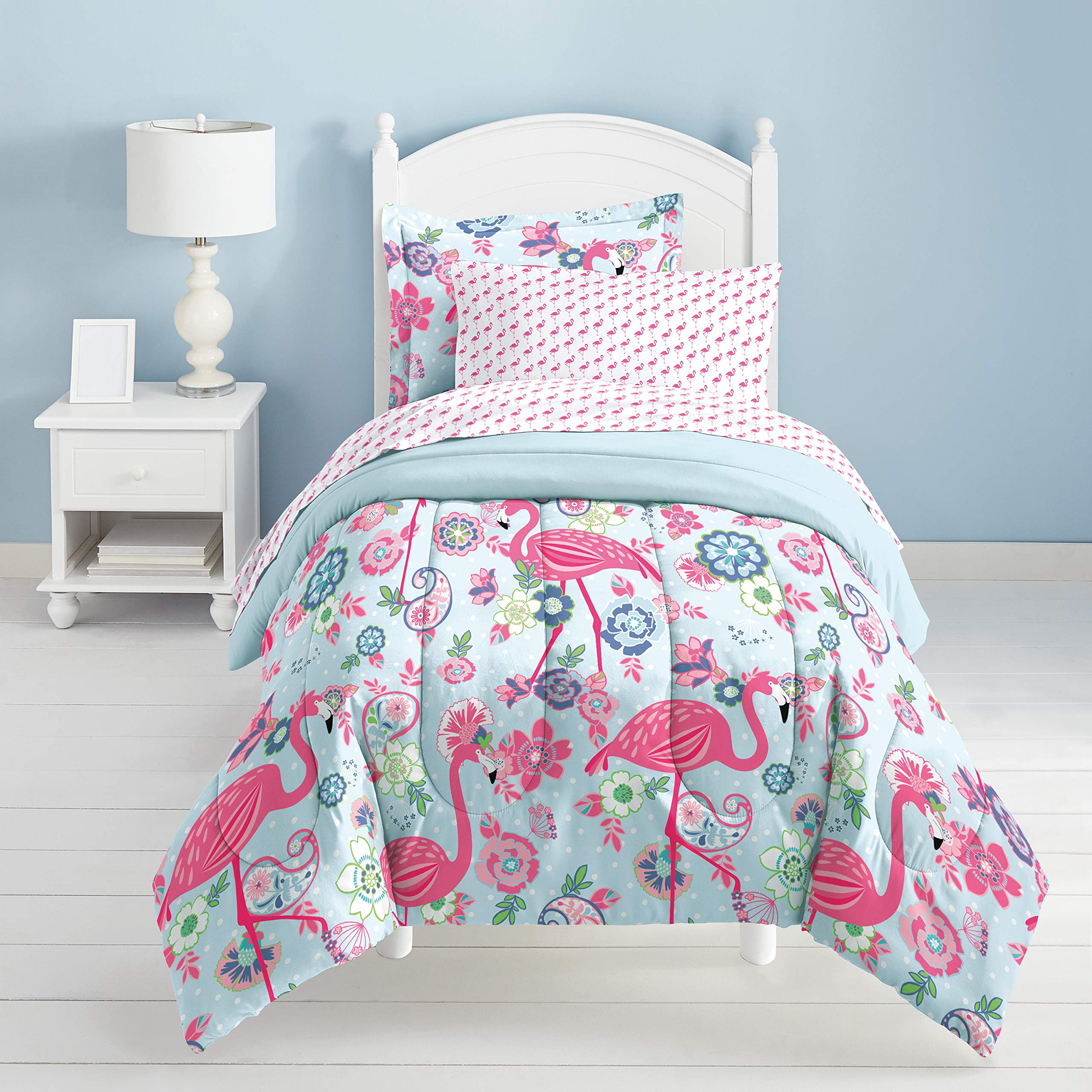 Dream Factory Flamingo Comforter Set, Pink, Twin by Dream Factory (Image #5)