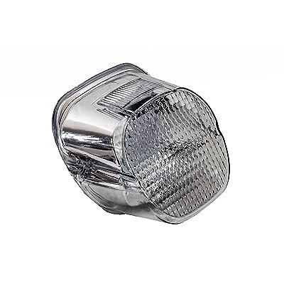 Clear Lens OZ-USA CHROME Tail Brake Led Light Harley Davidson Motorcycle Stop Lamp: Automotive