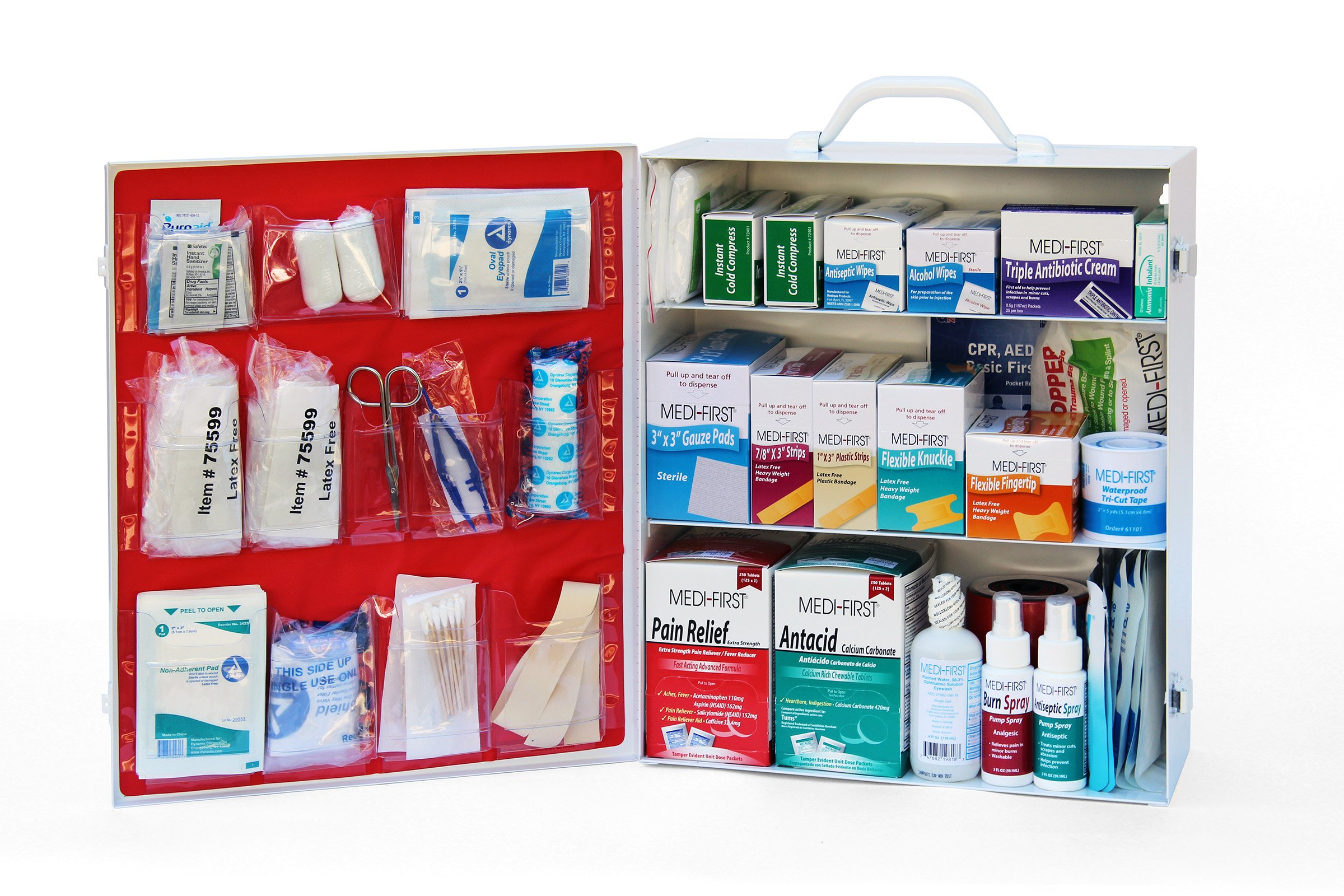 Medique Products 745ANSI Filled Three Shelf First Aid Kit by Medique