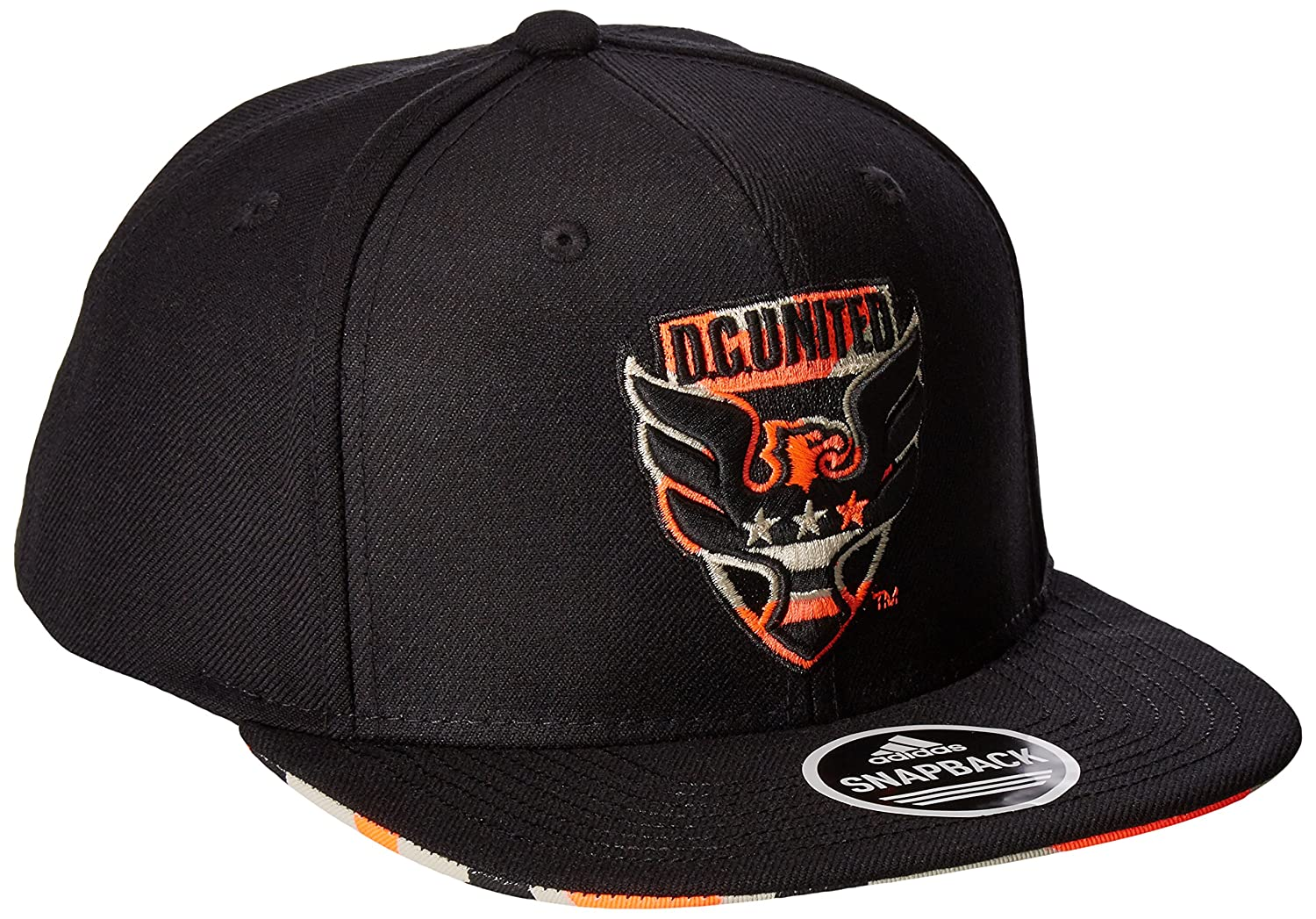 28316c64c36 Amazon.com   MLS D.C. United Adult Men MLS SP17 Fan Wear Box Pattern Flat  Brim Snapback