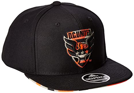 8246278406d MLS D.C. United Adult Men MLS SP17 Fan Wear Box Pattern Flat Brim Snapback