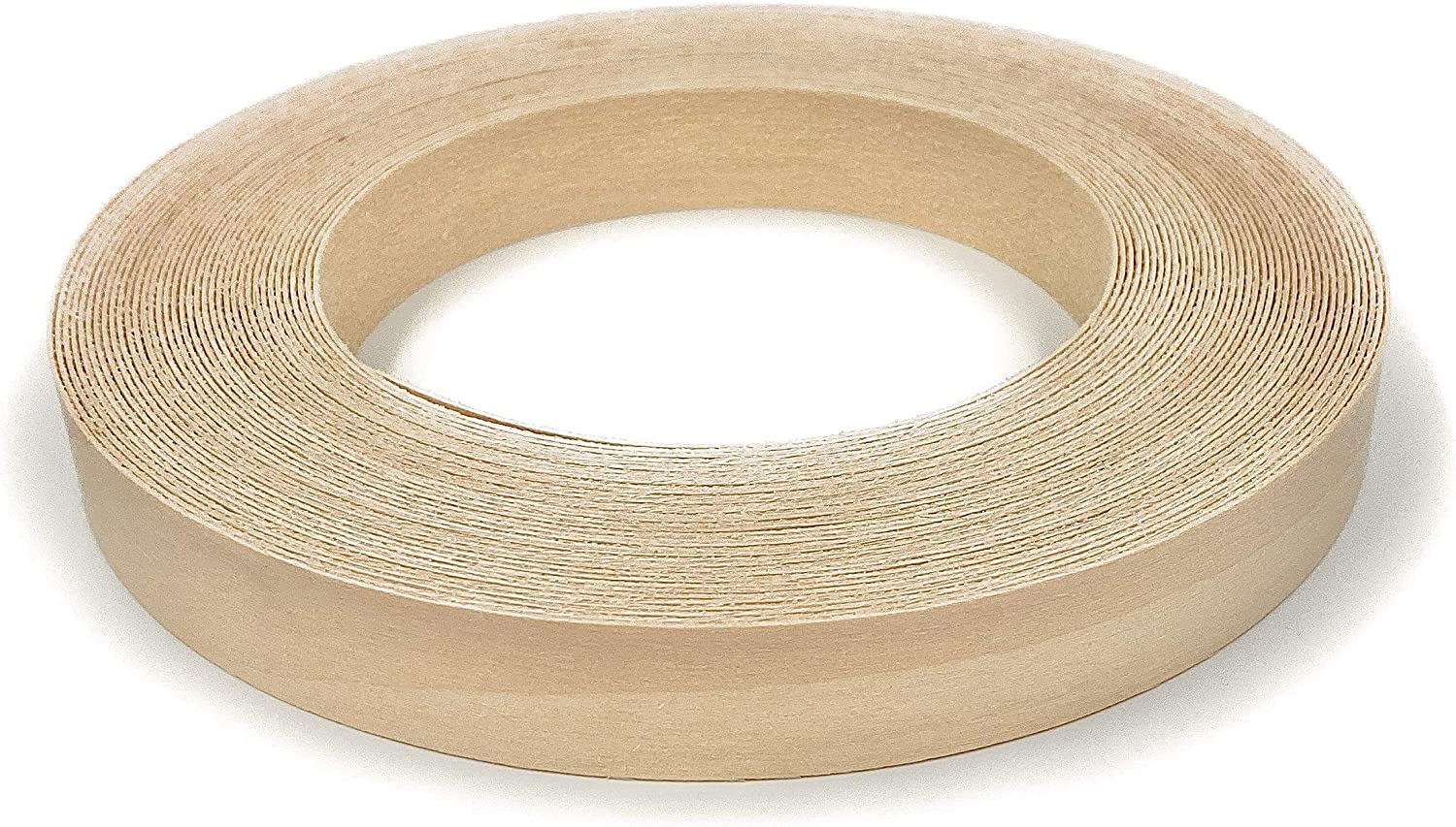 "Edge Supply Birch 3/4"" X 25' Roll of Plywood Edge Banding – Pre-glued Real Wood Veneer Edging – Flexible Veneer Edging – Easy Application Iron-on Edge Banding for Furniture Restoration – Made in USA"