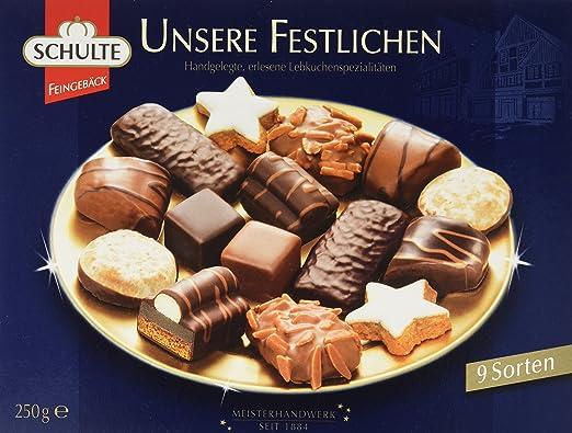 Schulte Unsere Festlichen 11 Lebkuchenspezialitäten, 11er Pack (11 x ...