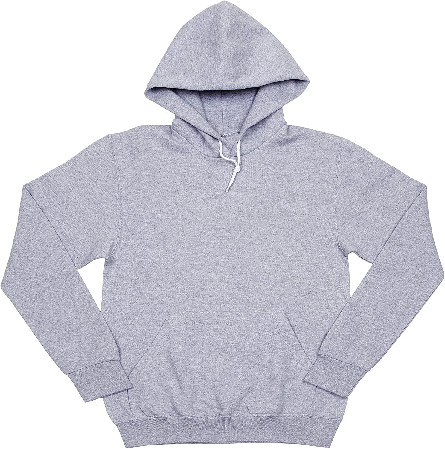 US Basics Apparel Mens Womens Blank Fleece Pullover Hoodie Hooded Sweatshirt
