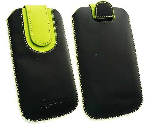 2 opinioni per Emartbuy® Nero / Verde PU Pelle Custodia Case Cover Sleeve ( Misura 3XL ) con