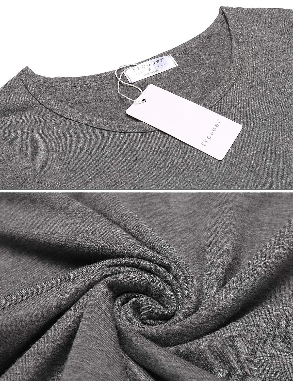 Ekouaer Womens Thermal 2 Pcs Underwear Set Soft Top and Bottom Smooth Knit S-XXL Grey/_1 EKK007873/_GR/_XXL