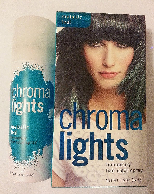 Amazon.com : Chromalights Metallic Teal Temporary Hair Color Spray ...