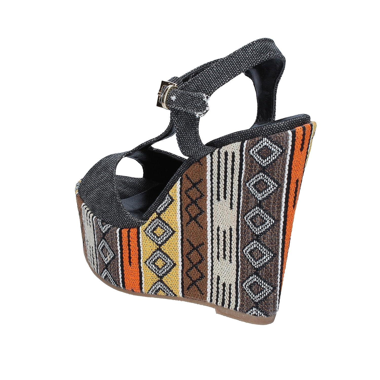 GENEVE schuhe Sandalen Damen Textil Textil Textil schwarz 193b1a