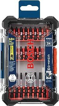 Bosch SDMS24 24-Pc. Impact Tough Screwdriving Custom Case Set