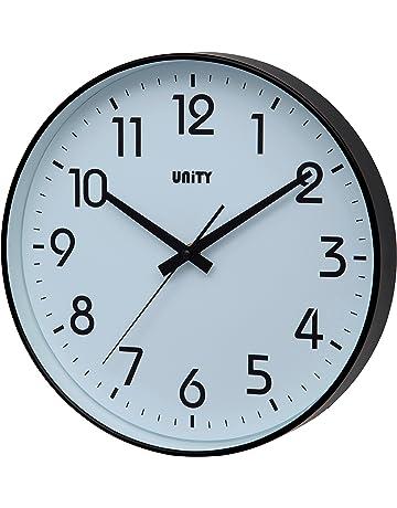 Unity Fradley - Reloj de pared silencioso, moderno, 30 x 30 x 5 cm
