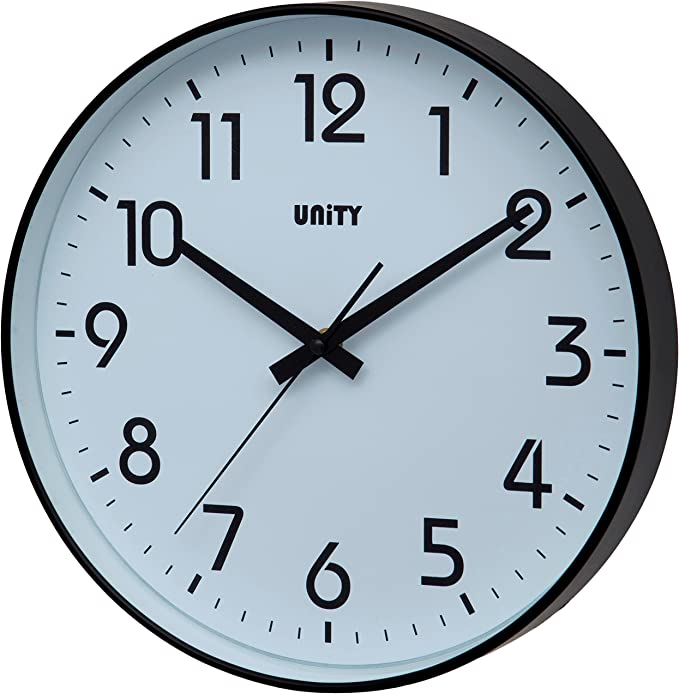 Silent Sweep Plastic 12 Hour Display 11in Perfect Wall Clock Home
