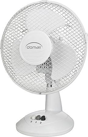 Domair DK23 II ventilador de mesa 23 cm, 35 W, color blanco ...