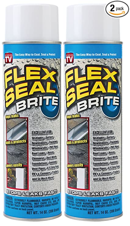Spray Rubber Seal >> Amazon Com Flex Seal Spray Rubber Sealant Coating 14 Oz Brite 2