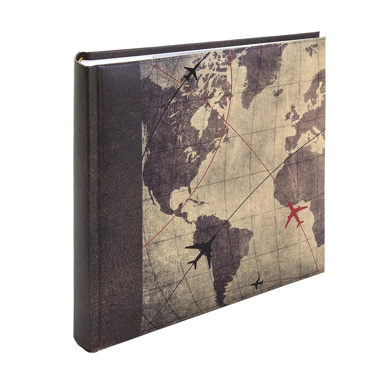 Álbum de fotos, de la marca Kenro, con diseño de mapa del mundo, para 200 fotos de 15 x 10 cm (HOL117) Álbum de fotos