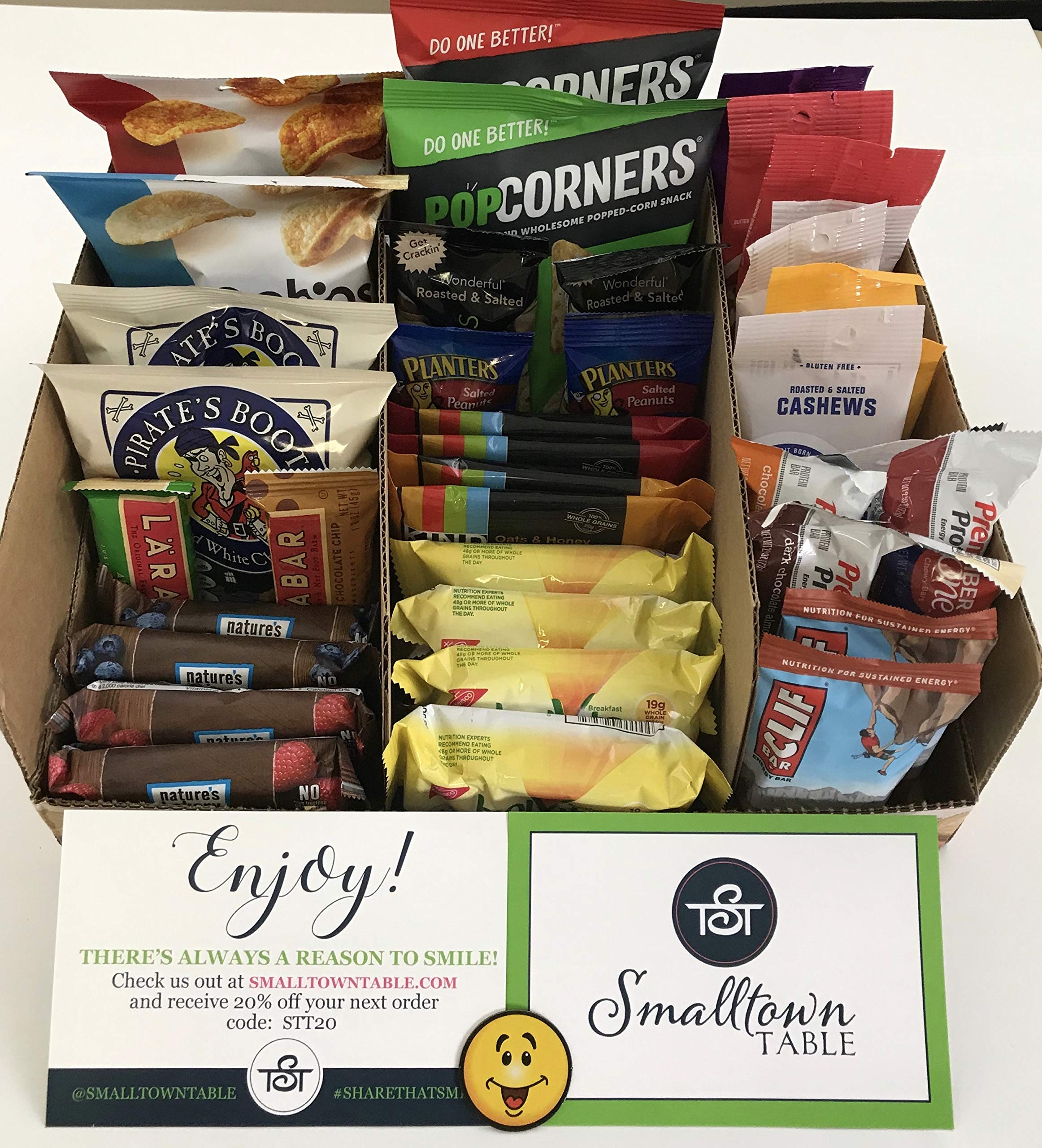 Premium Snacks Variety Pack Care Package - Huge 100 Count - the Perfect Gift Box for Office, College Students, Camp, Military - Individually Wrapped Chips, Cookies, Candy, More by SmallTown Table (Image #6)