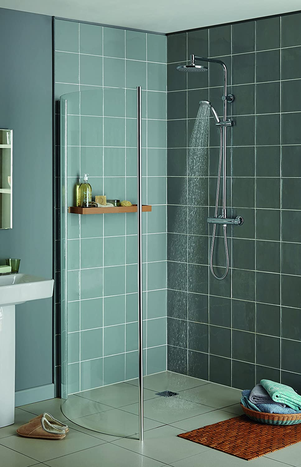 Aqualisa Midas Plus Thermostatic Bar Mixer Shower With Diverter (HP ...