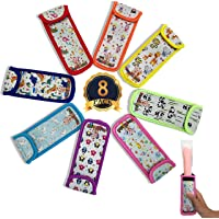 KooKiddos Popsicle Holders For Kids, Ice Pop Sleeves, Reusable Popsicles Covers, Neoprene Storage Popsicle Bags, Freeze…