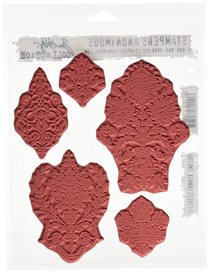 Distress Damask CMS 190 Tim Holtz Cling Stamps