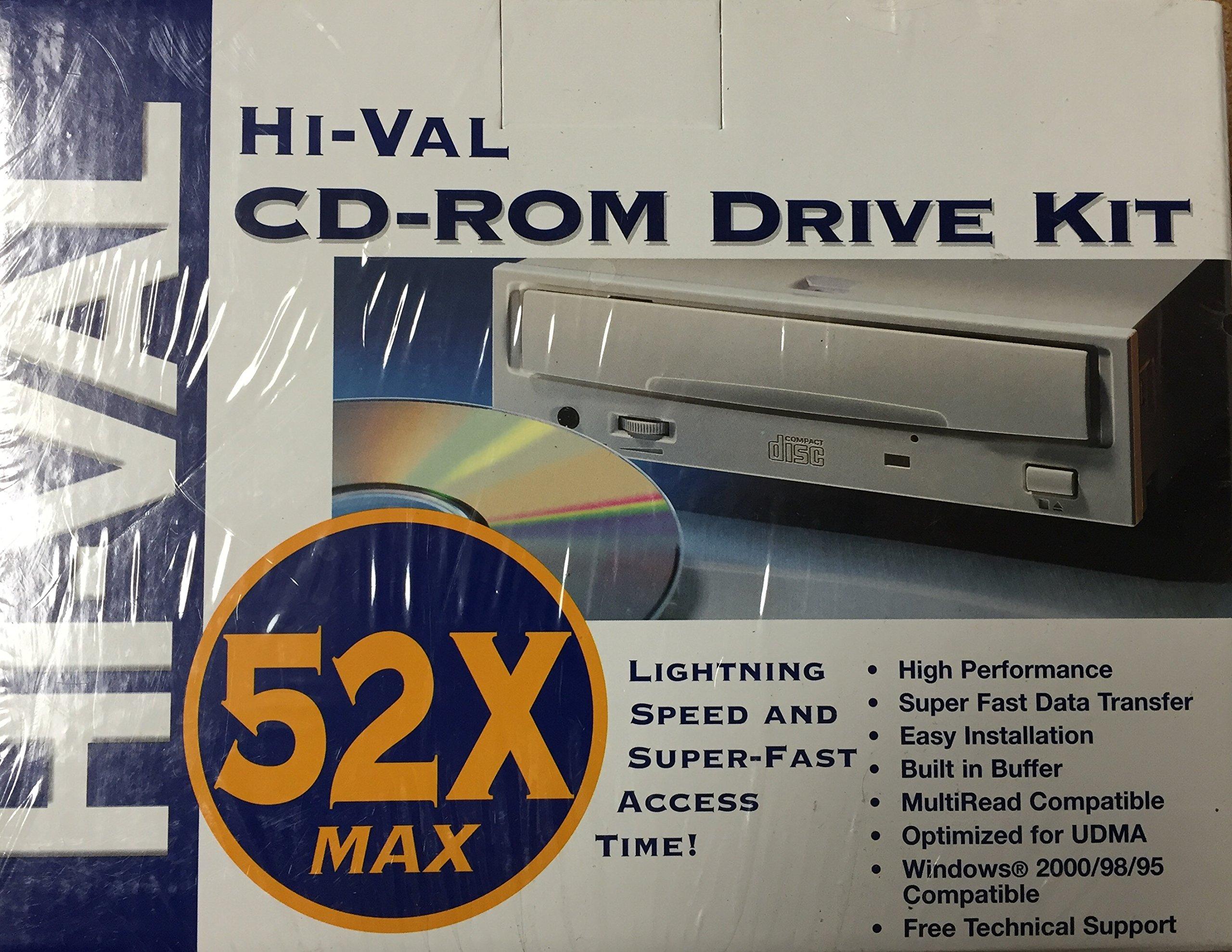 Hi-Val Multimedia Kit - Disk drive - CD-ROM - 52x - IDE - internal - 5.25'' - white