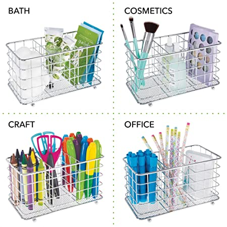 Amazon.com: mDesign Farmhouse Modern Metal Wire Cutlery and Utensil Storage Organizer Bin for Kitchen, Pantry, Table and Countertop - Utensil Caddy Holds ...