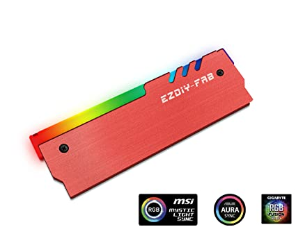 EZDIY-FAB RGB Addressable Memory RAM Cooler DDR Heatsink for DIY PC Game  Overclocking MOD DDR3 DDR4 (Compatible with ASUS Aura Sync, GIGABYTE RGB