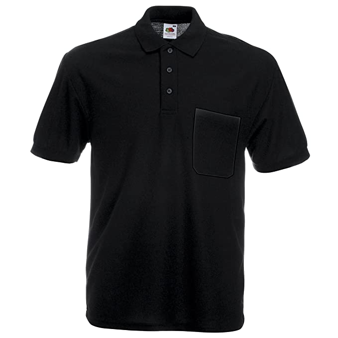 5091a6350f22 Fruit of the Loom Pocket Polo Shirt  Amazon.co.uk  Clothing