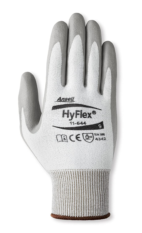 HyFlex 11 – 644ライトカット保護手袋、サイズ12、グレー/ホワイト  B00EW6QHJG