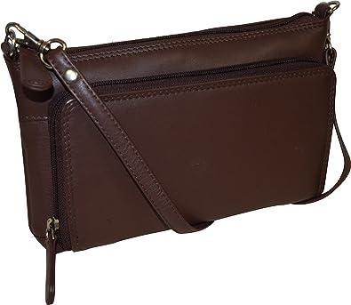 6c4e709e692b Pielino Women s Genuine Leather with Organizer (Brown)  Handbags  Amazon.com
