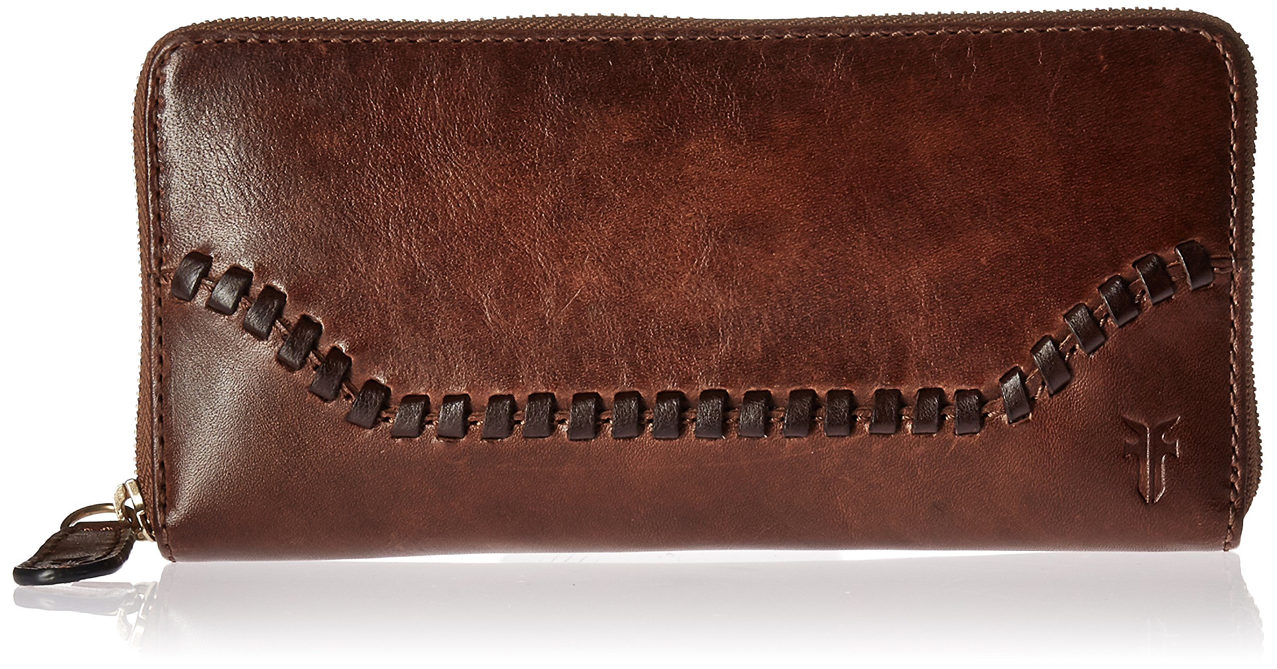 Melissa Whipstitch Zip Wallet Wallet, COGNAC, One Size by FRYE