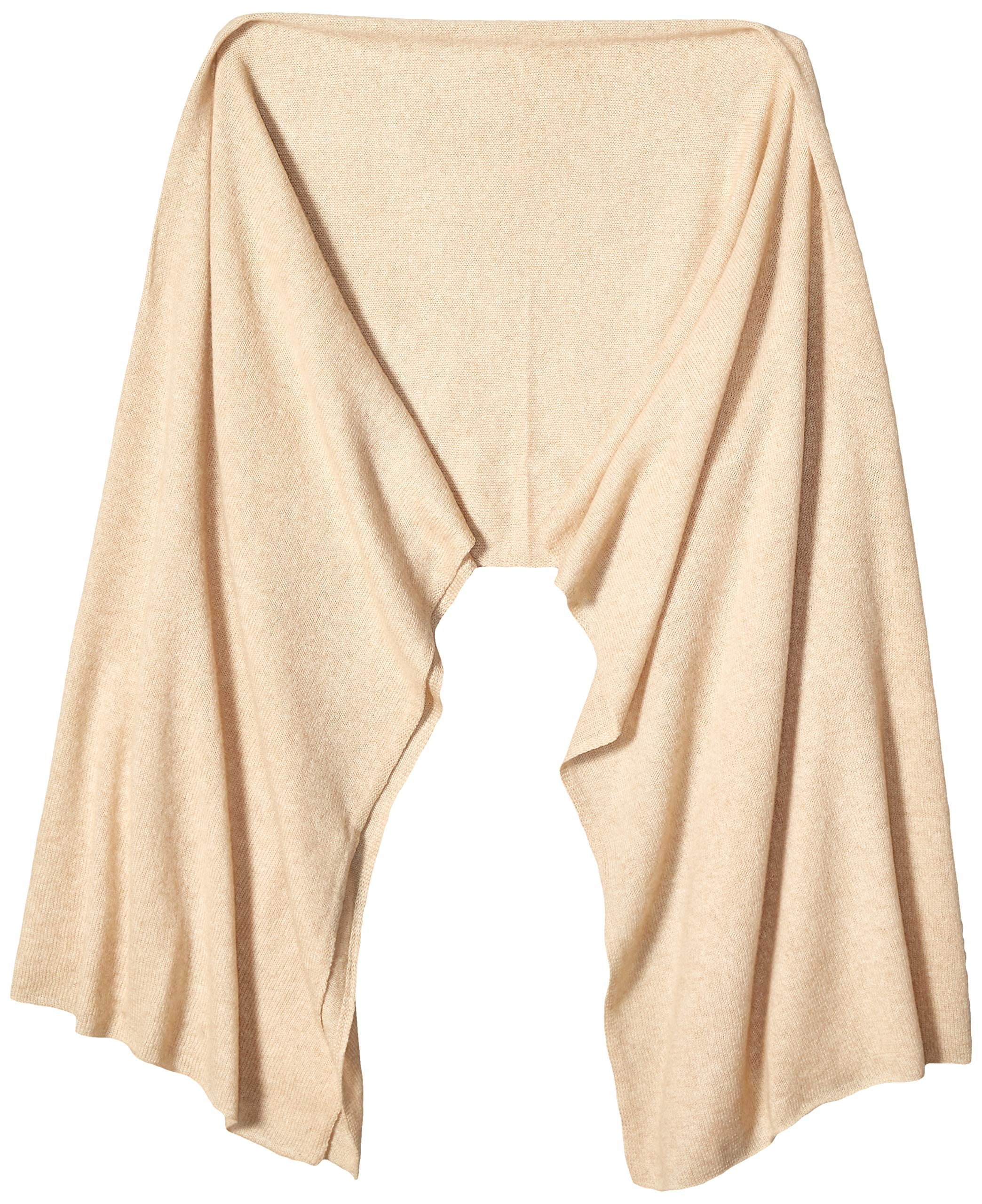 Jet&Bo 100% Pure Cashmere Lightweight Travel Wrap & Scarf Beige 7GG by Jet&Bo (Image #3)