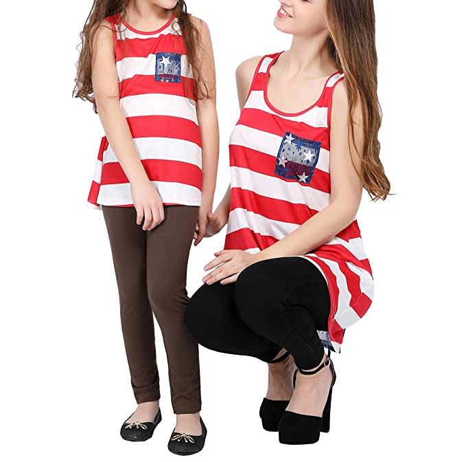 96a5d9a6e7b9 Amazon.com  Qin.Orianna 4th of July Mommy and Me Shirts