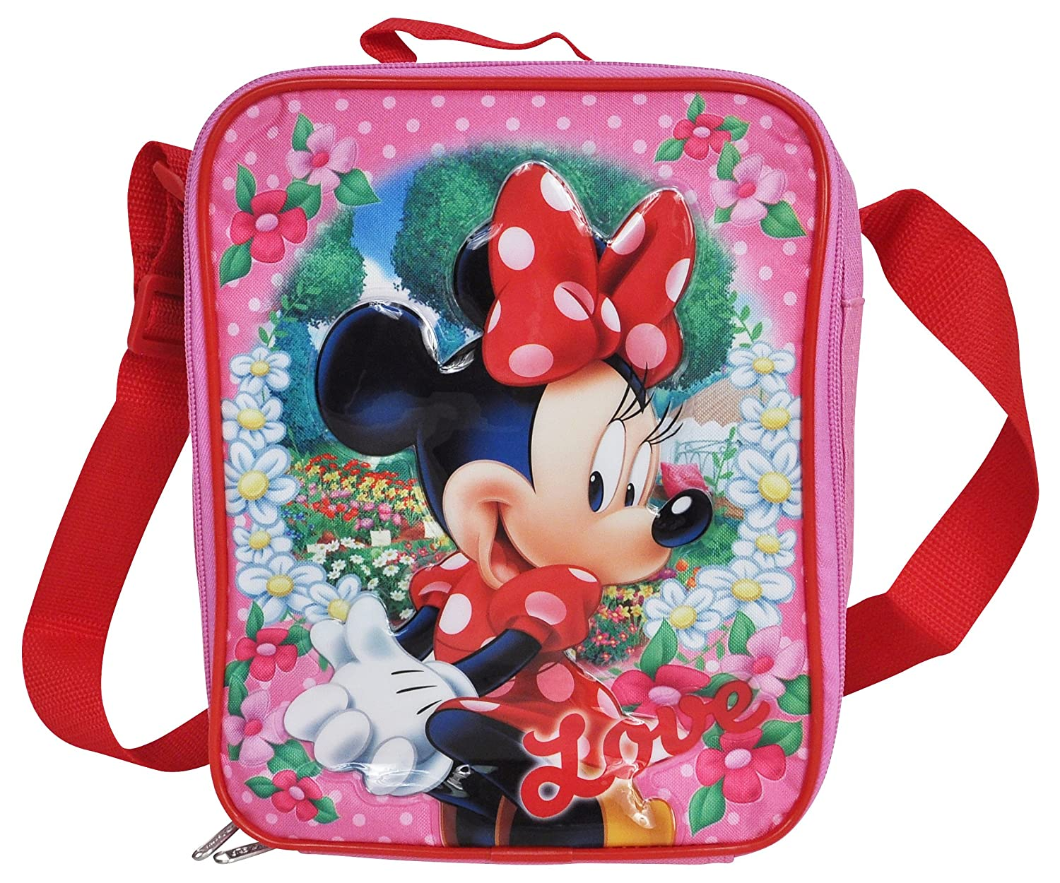 Amazon disney minnie mouse d pop out applique insulated