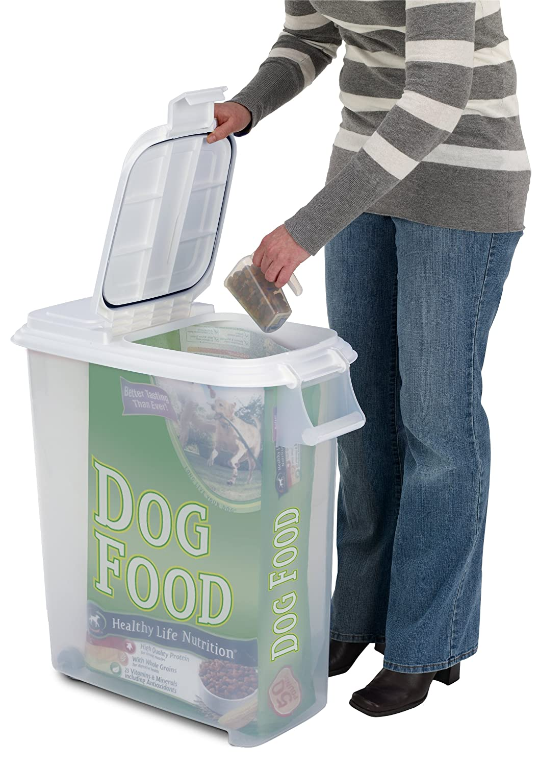 Amazoncom Buddeez 12 12 Gallon Roll Away Pet Food Dispenser with