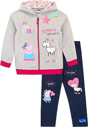 Peppa Pig Conjunto de Sudadera con Capucha y Leggings para Niñas Unicornio