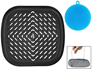 Air Fryer Grill Pan Accessory Compatible with Philips, NuWave Brio, Chefman, GoWise, Cozyna, Emerald, Power Air Fryer, Maxi Matic Elite, Secura, Habor + More by Infraovens (LARGE)