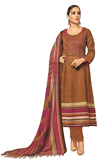5d8167fd20 Elegance Fashion And You Woolen Pashmina EMBROIDERED UNSTITCHED salwar suit  set dress material with WOOLEN SHAWL for winter for women: Amazon.in:  Clothing & ...