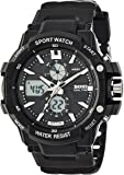 SKMEI Analog-Digital Black Dial Men's Watch - AD0990 (BK White)