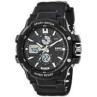 SKMEI Analog-Digital Black Dial Men's Watch - AD0990 (BK White)
