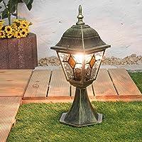 Lámpara de base rústica en cristal antiguo dorado