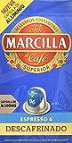 Marcilla - Descafeinado - Caf Molido Descafeinado en Capsulas - 10 capsulas - [pack de 4]