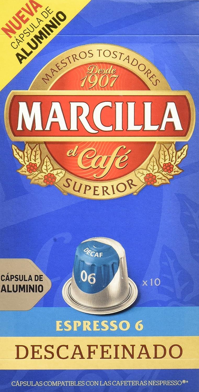 Marcilla - Descafeinado - Caf Molido Descafeinado en Capsulas - 10 ...