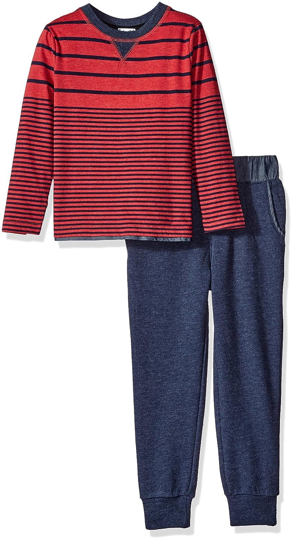 Splendid Boys' Long Sleeve Mix Stripe Top with Pant Set