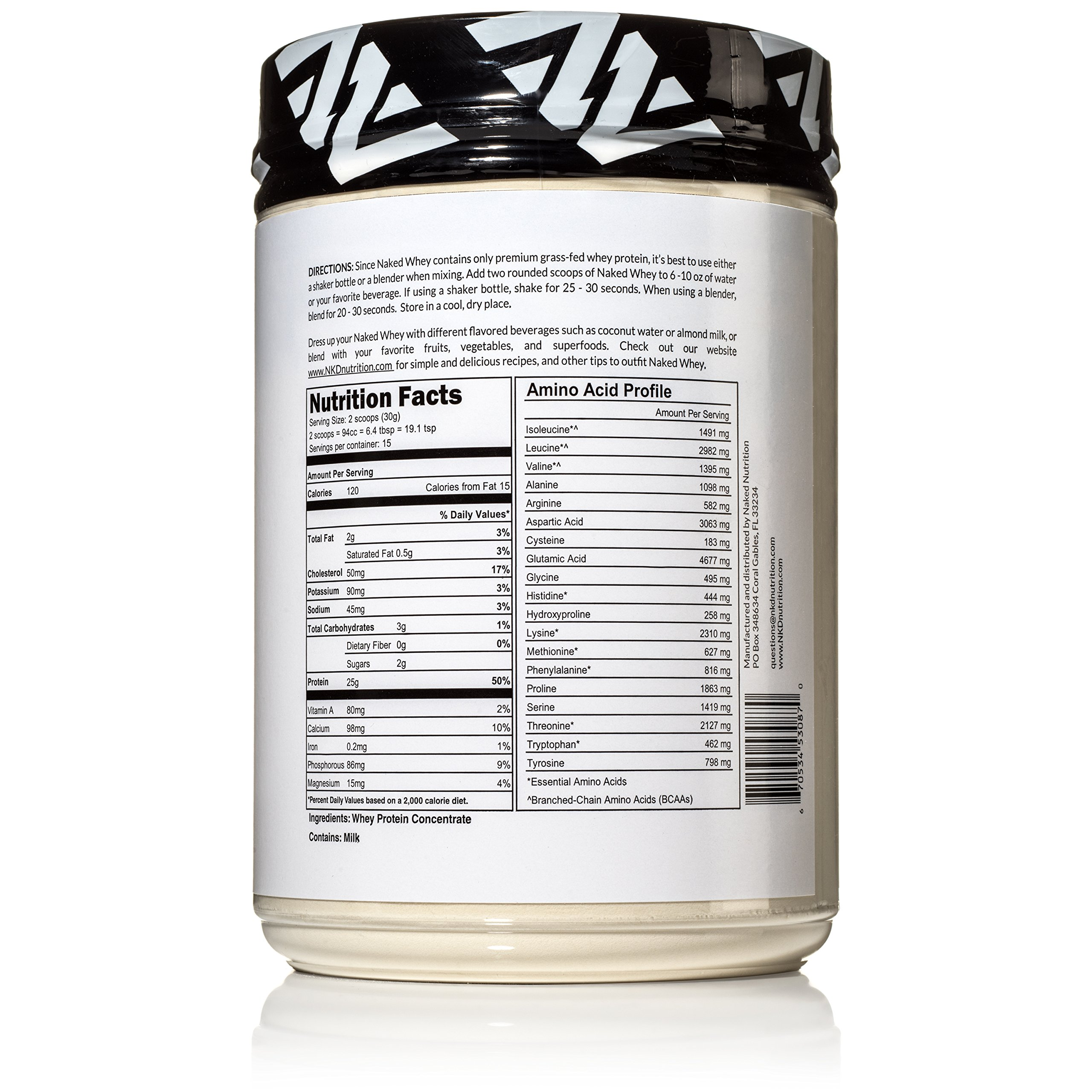 Naked WHEY 1LB 100% Grass Fed Unflavored Whey Protein Powder - US Farms, Only 1 Ingredient, Undenatured - No GMO, Soy or Gluten - No Preservatives - Promote Muscle Growth and Recovery - 15 Servings by NAKED nutrition (Image #5)