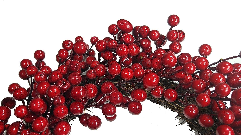 T/ürkranz Weihnachtskranz 12,6 Zoll Weihnachts-Kranz mit Zapfen Winter Herbstkr/änze